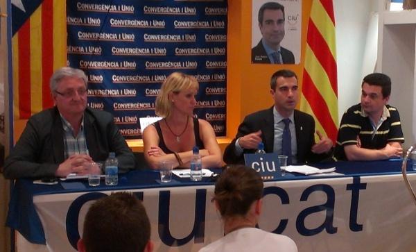 Joaquim Martí, Mònica Santamans, Joan Ramon Casals i Esteve Altozano van explicar la seva acció de govern els últims 12 mesos // Jordi Julià