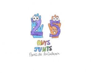 Logo de l'aniversari fet per l'Andrea Iglesias (6è de primària)
