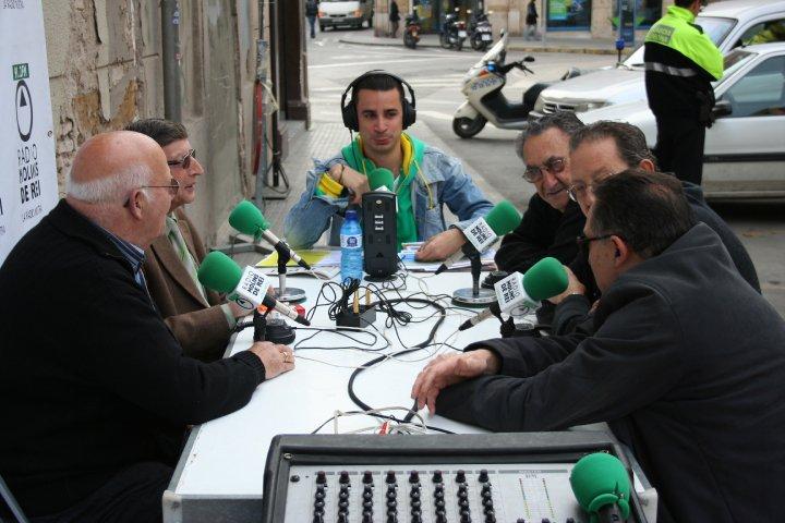 Foto del programa de Ràdio Molins de Rei el passat Sant Jordi