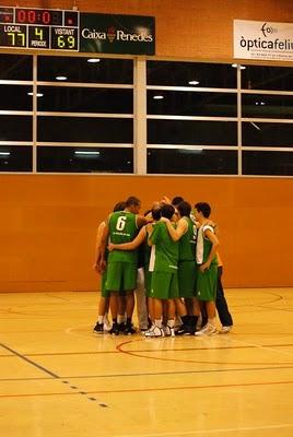 Imatge del final del partit