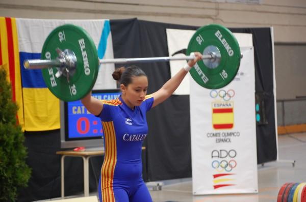 La molinenca Judith Calvo en acció (Federació)
