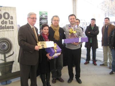 Entrega de premis als guanyadors del concurs de tast de vins