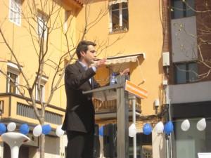 Casals durant el seu discurs // Jose Polo