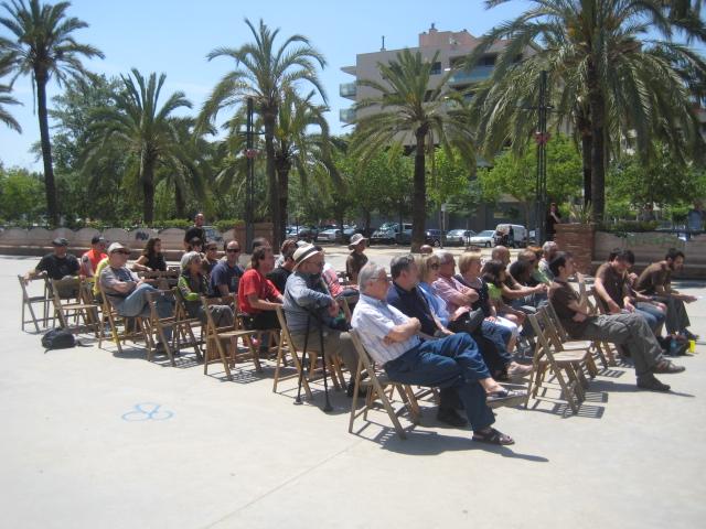 El sol i la calor van ser un dos dels protagonistes de l'acte central de la campanya de la CUP // Jose Polo