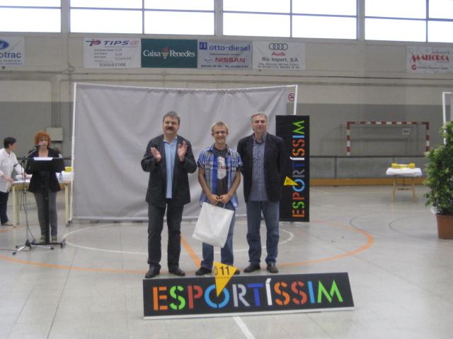 Arnau Pedrol, premiat Esportíssim 2011 per la secció d'atletisme de l'AEM // Jose Polo