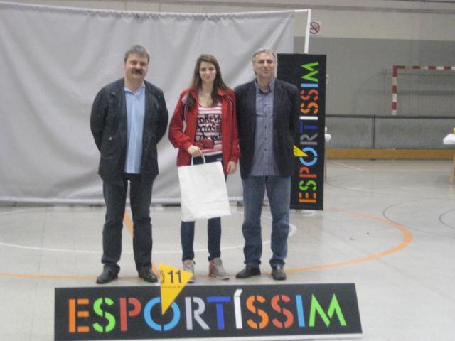 Clara Carbonell, premi de la secció de voleibol de l'AEM // Jose Polo