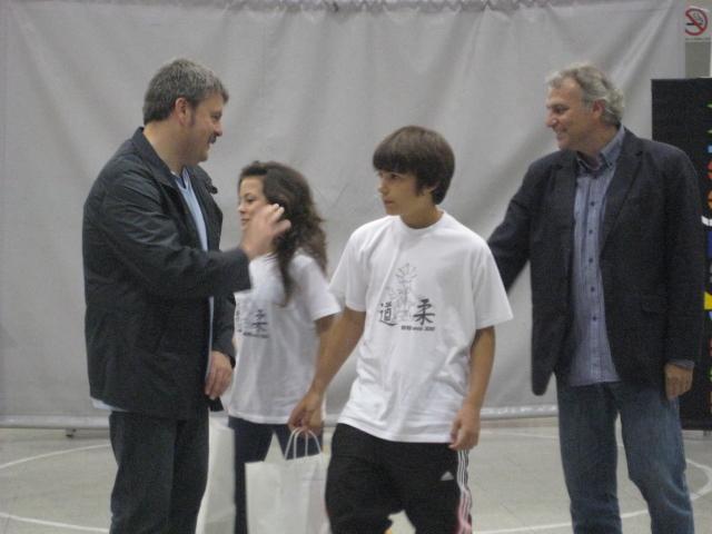 Rocio Lalla i Pablo Acedo, premiats per la secció de judo del CE Molins de Rei // Jose Polo