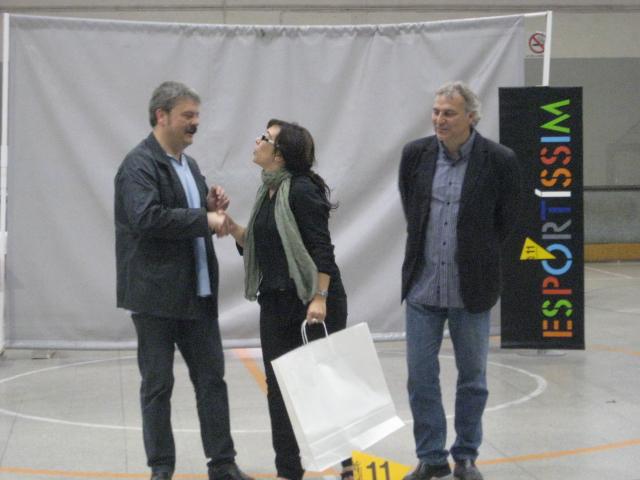 Maria Dolores Sánchez, premiada de l'EF Baix Llobregat // Jose Polo