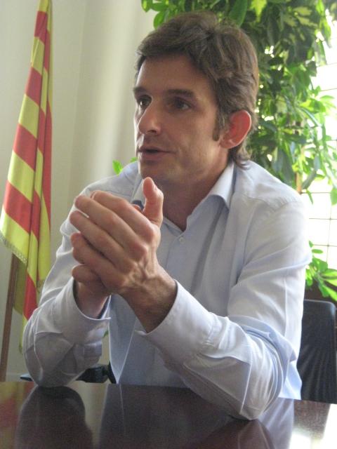 Xavi Paz al despatx d'alcaldia // Montserrat Zapata
