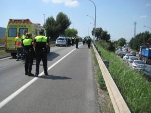 La incoporació a l'autopista AP-2 a Molins de Rei està tancada // Jose Polo