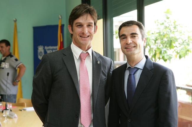 Xavi Paz i Joan Ramon Casals formaran govern durant aquesta legislatura // cedida per l'Ajuntament