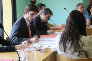 Xavi Paz fent els primers tràmits com alcalde de Molins de Rei // Marta Pedrola