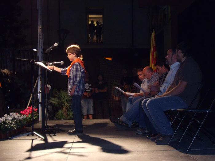 Un dels moments emotius va ser la participació del petit Roc Beumala // Estel Tort