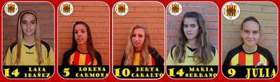 El Molins de Rei CF compta amb 5 jugadores a la selecció catalana //molinsdereicffemenins.blogspot.com