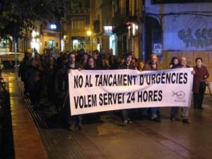 La pluja va fer que el nombre de manifestants sigui menor // Jose Polo