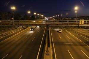 L'autopista B-23 al seu pas per Molins de Rei // Jordi Julià
