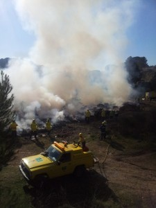 Les ADF van mostrar la seva coordinació en cas d'incendi // Jose Polo