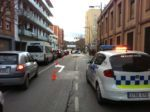 Les tasques de neteja de la via han comportat un col·lapse de trànsit al carrer Verdaguer // Ràdio Molins de Rei