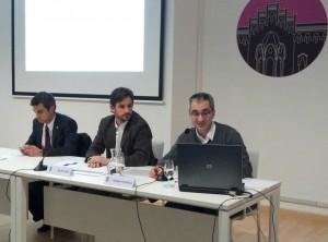Joan Ramon Casals, Xavi Paz i Ferran Espinosa van explicar els detalls del pressupost // David Guerrero