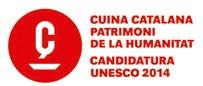"""Logotip de la campanya """"Cuina catalana, Patrimoni de la Humanitat"""""""
