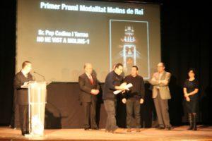 """Pep Codina va recollir el primer premi de la categoria """"Molins de Rei"""" // David Guerrero"""