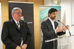 Joaquim Martí i Xavi Paz van presentar les novetats de la 162a Fira de la Candelera en una roda de premsa a la sala Punt de Comerç // David Guerrero