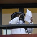 Esteve Vilapubilla i Tortell de Cabell d'Àngel va llegir el pregó des del balcó de l'ajuntament // J.Julià