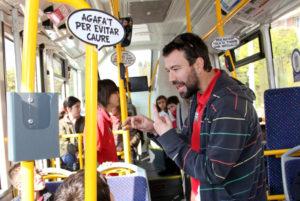 Es promou el transport públic en col·laboració amb les escoles // Ajuntament de Molins de Rei