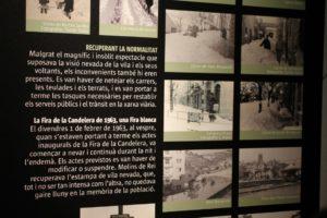 Els plafons de l'exposició consisteixen principalment en un recull de fotografies // David Guerrero