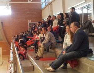 El Poliesportiu Municipal va registrar un molt bon ambient pels primers partits de promoció // Jose Polo