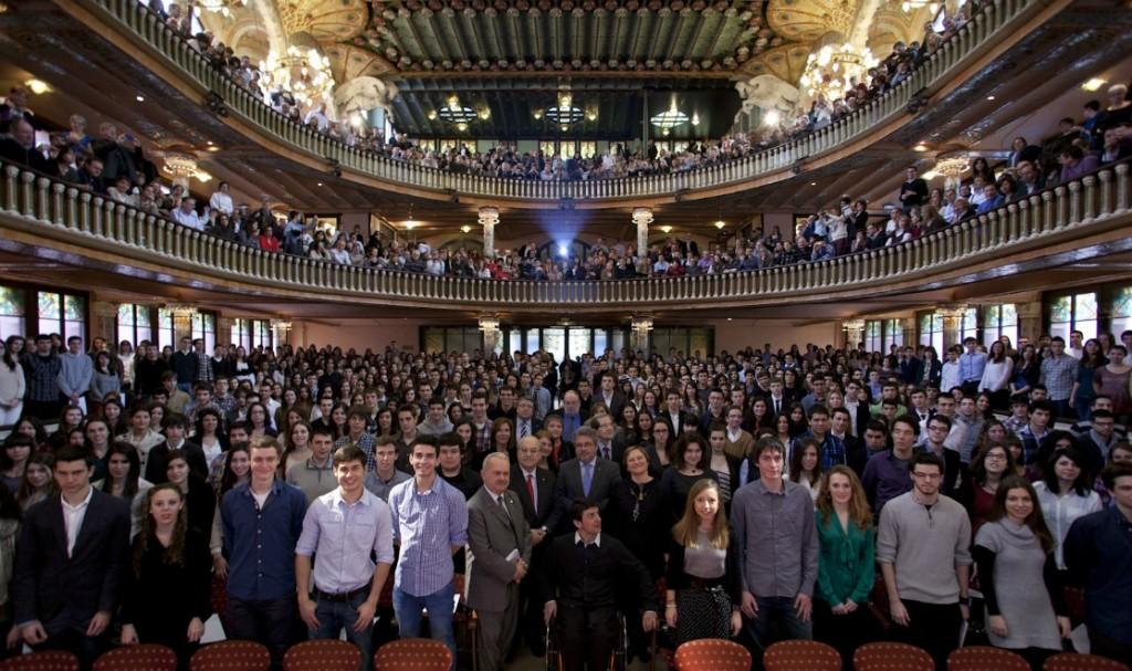 Els alumnes becats van assistir a un acte d'entrega al Palau de la Música // Fundació Catalunya-La Pedrera