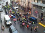 La capçalera de la marxa contra l'atur al seu pas per l'avinguda València // Jose Polo