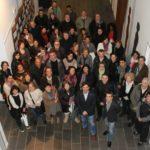 Les parelles lingüístiques es van conèixer en un acte celebrat a la Federació Obrera // Ajuntament de Molins de Rei