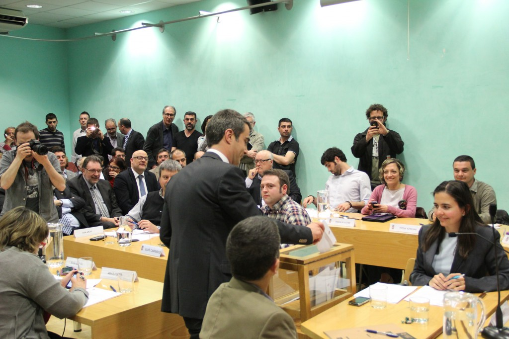 Casals ha estat escollit alcalde amb el suport de 10 dels 21 regidors // Jordi Julià