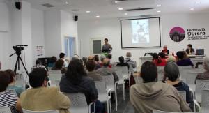 La xerrada va omplir més de la meitat de la Sala d'Actes de la Federació // Jose Polo