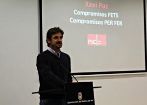 Xavi Paz es va dirigir als militants del seu partit per última vegada com alcalde // David Guerrero