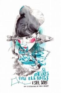 """Portada del llibre """"Si uneixes tots els punts"""" d'Estel Solé // Editorial Galerada"""
