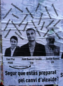 El polèmic cartell sobre el canvi d'alcaldia // Jose Polo