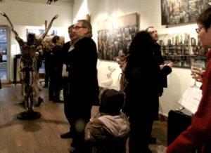 Martí Bofarull va ser present a Lyon durant la inauguració de la seva exposició // M. B.