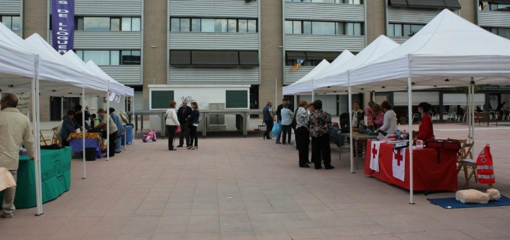 La plaça del Molí va ser l'espai que va acollir la segona edició de la mostra d'entitats sociosanitàries // David Guerrero
