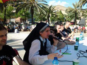 Teresa Forcades va explicar el Procés Constituent que ha impulsat al parc del Pont de la Cadena // Procés Constituent