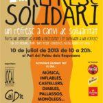S'organitza el primer Refresc Solidari al Pati del Palau