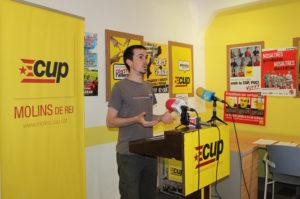 La CUP va convocar la roda de premsa per expressar la seva opinió // Jose Polo