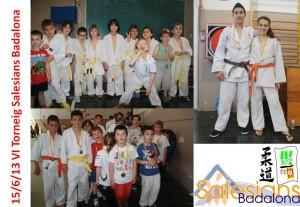 La secció de Judo al VI Torneig de Judo dels Salesians de Badalona // CE Molins de Rei