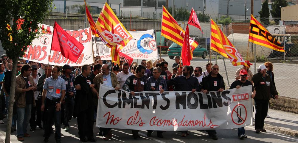La lluita de Ciments Molins ha aconseguit canviar la postura de l'empresa // Jose Polo