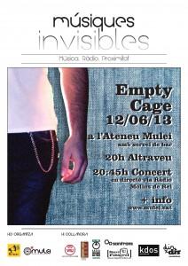Viu Molins de Rei retransmetrà en vídeo l'actuació d'Empty Cage, dimecres a les 20:45 // Músiques Invisibles