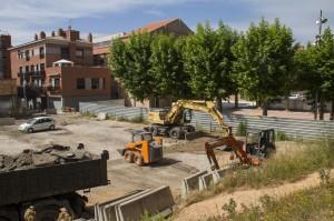 Les obres de millora del pati de la Federació Obrera suposaran la seva obertura a la ciutadania // Ajuntament de Molins de Rei