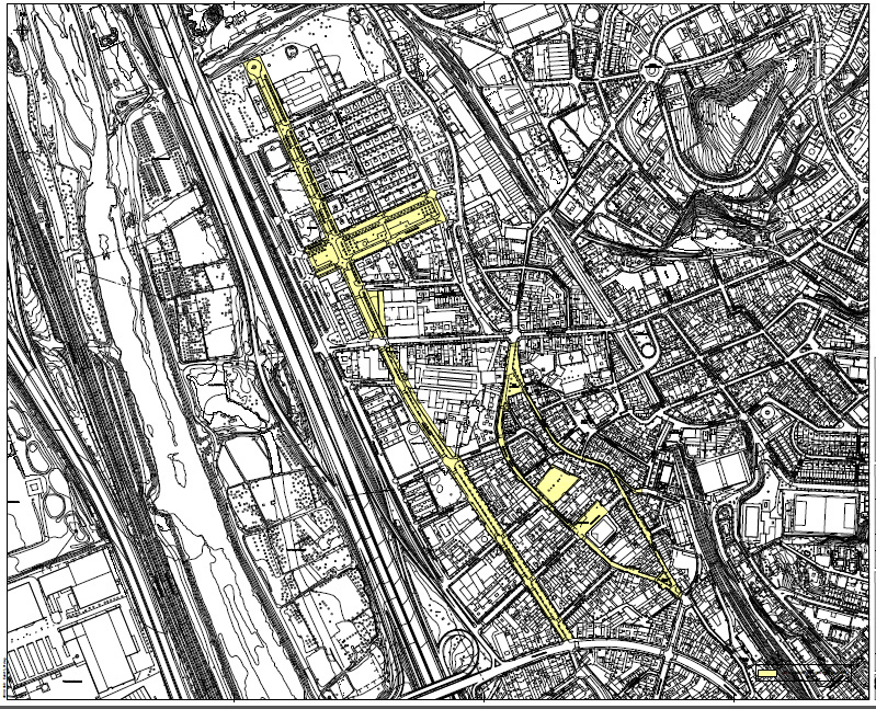 En groc, les zones on està prohibit instal·lar nous centres de culte // Ajuntament de Molins de Rei