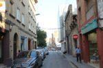 El carrer Rafael Casanova abans de l'inici de les obres en un dels trams que es talla al trànsit // Jordi Julià