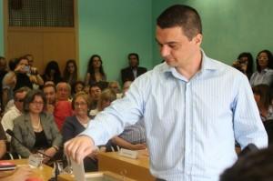 Esteve Altozano en una imatge d'arxiu en el ple d'inici del mandat // Jose Polo